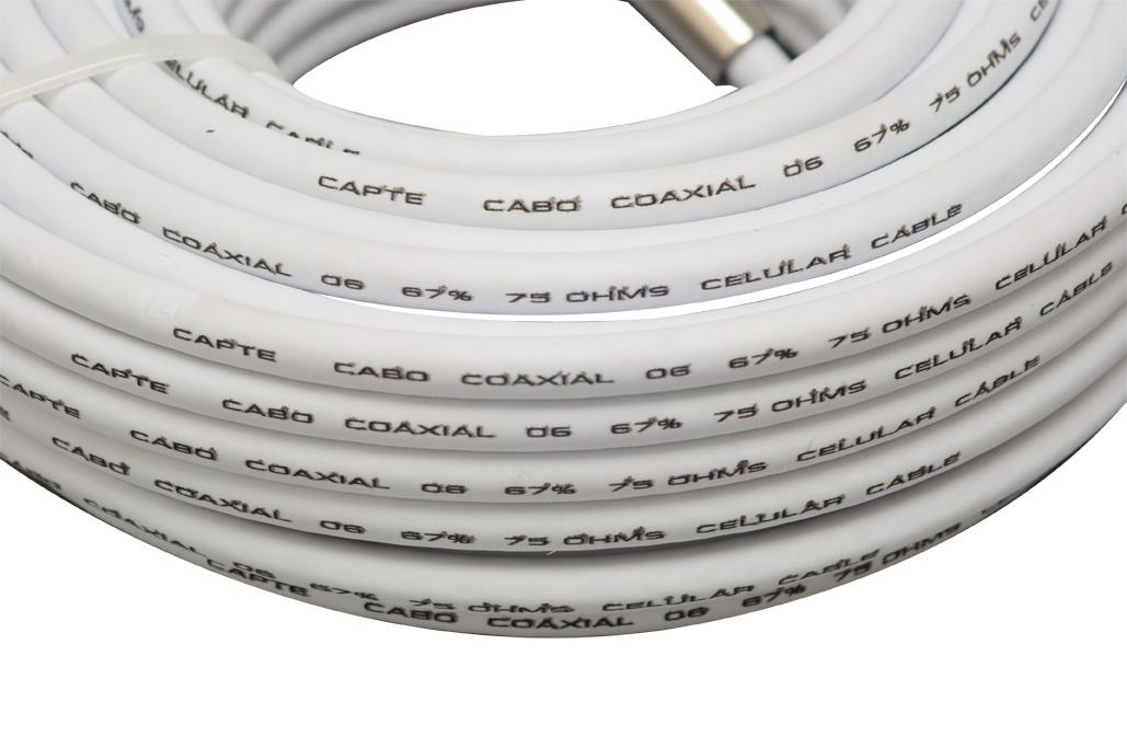 Antena Digital Externa Log 28 e Cabo Coaxial 20m