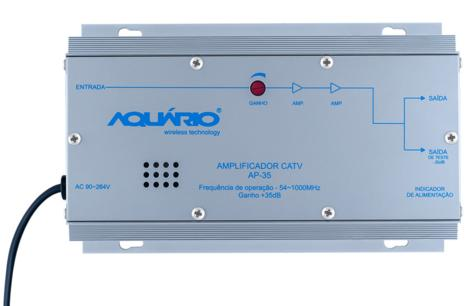 Amplificador de Potência CATV Frequência 54-1000MHZ 35DB AP-35