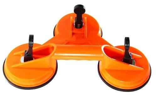 Ventosa Tripla Transporte Vidro Mármore Plástico Até 130kg