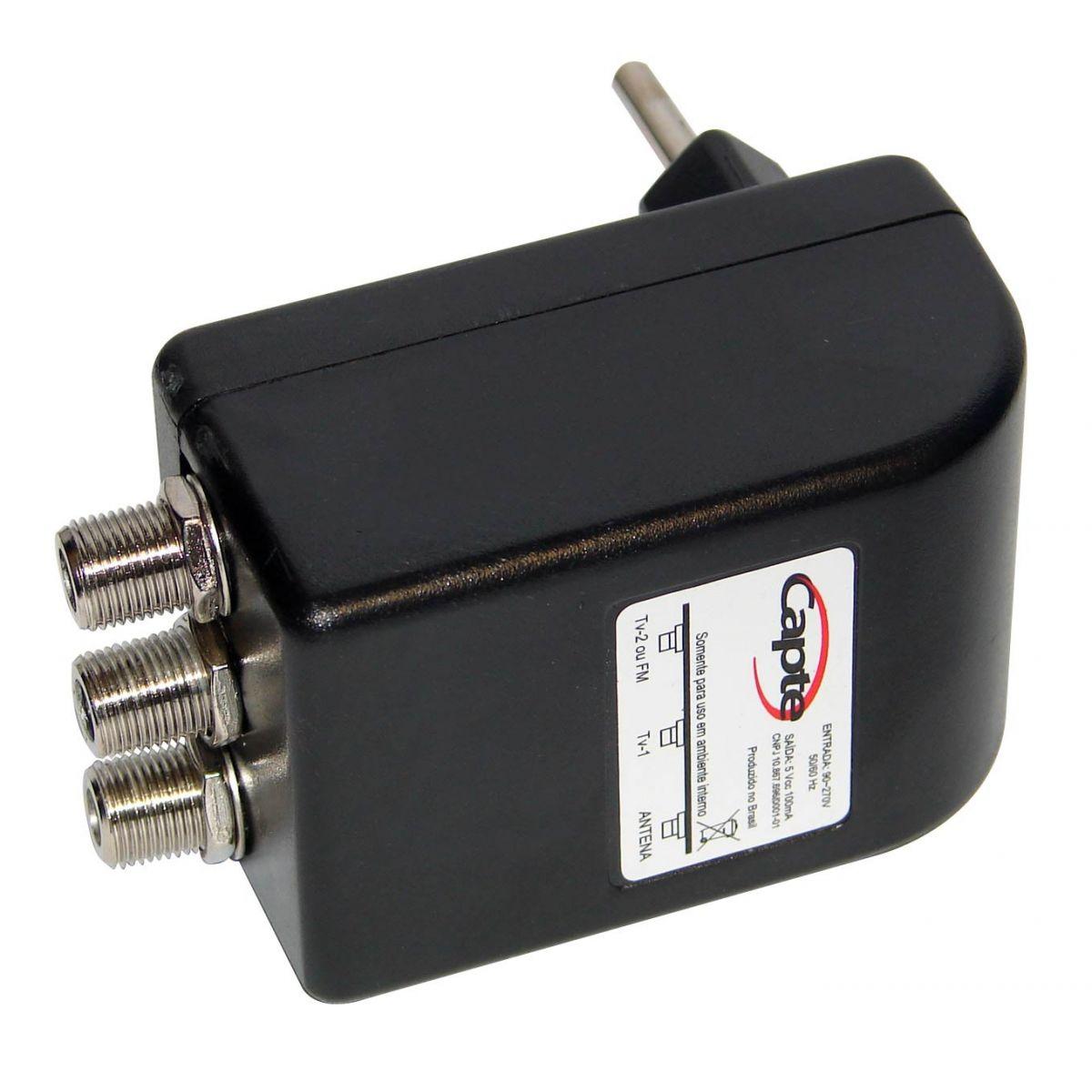 Antena Sinal Digital Capte Diamante VHF UHF Sinal Digital e FM