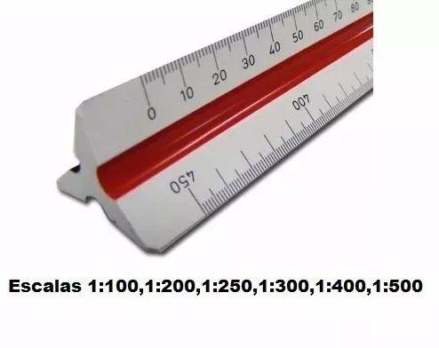 Escalímetro Régua Triangular Plástico 30Cm Escala