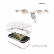 Capa E Fone De Ouvido Duplo Com  Case Para Iphone Protetora