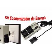 Kit Economia De Energia Filtro Eco C 5 Tomadas E Econocapte