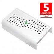 Anti Mofo Eletrônico R14 220V  Kit 5 unid. Branco Repel Mofo, Anti-Ácaro e Fungos, Desumidificador Capte