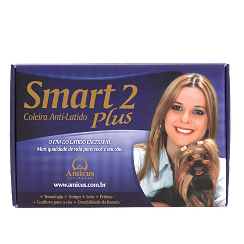 Coleira AntiLatido Smart Plus 2 Preta, acompanha bateria para 6 meses