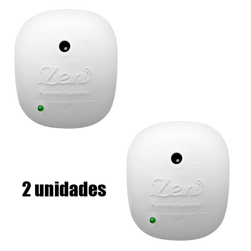 Repelente Eletrônico Zen Branco 2 Unidades Bivolt Econômico