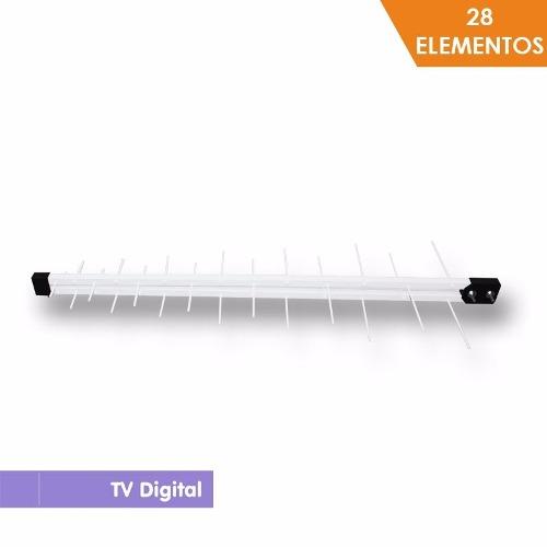 Antena Digital Log Periódica Uhf Digital Hdtv Capte 28 Elementos