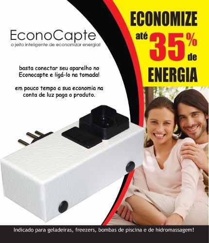 2 Redutor De Energia Inteligente Econocapte Ate 35% Economia