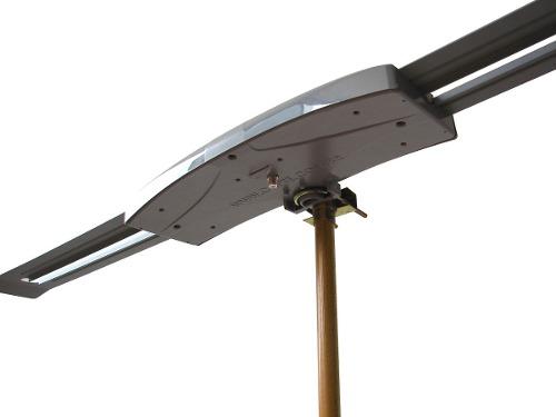 Antena Digital Externa Capte Grafite Amplificada e Mastro 50cm Cabo Coaxial 14 metros