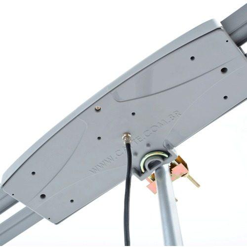 Antena Digital Externa Capte Prata Full HD e Mastro Articulável 50 cm Capte