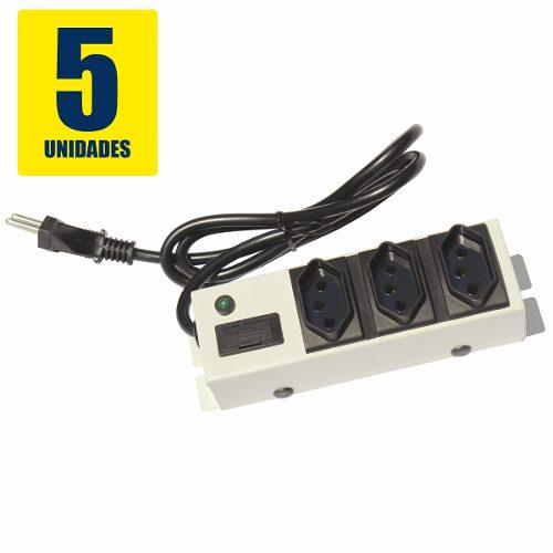 Filtro de Linha Capte Security 3 tomadas c/ botão Liga/Desliga - 5 Unidades