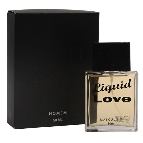 Perfume Afrodisíaco Masculino Liquid Love Man 50ml (3 vidros)