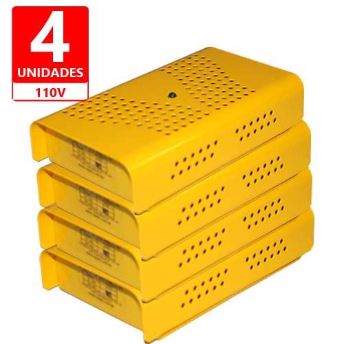 Anti Mofo Eletrônico Desumidificador, Anti Ácaro e Fungos - 4 unidades 110V