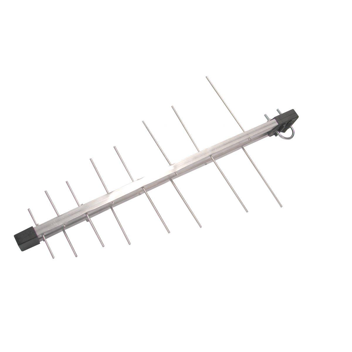 Kit Antena Tv Digital Externa Log 16 Elementos c/ Mastro Articulado 50 cm e Cabo Coaxial Capte 10 metros