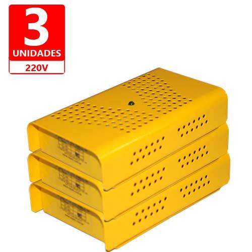 Anti Mofo Eletrônico Repel Mofo Amarelo Contra Bolor Mofo Ácaro 3 unidades 220V