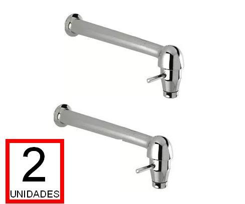 Torneira P/ Pia De Cozinha Cabinho Tipo Crê 22cm Parede (2unid.)