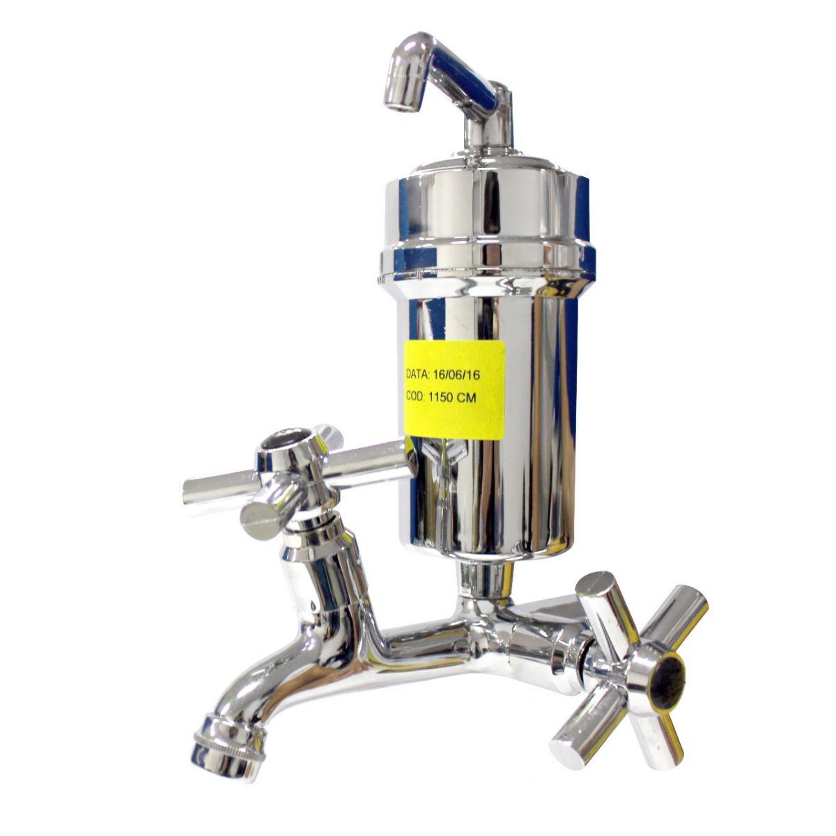 Torneira Com Filtro Purificador Metal Cromada Hidropal -  CR CM