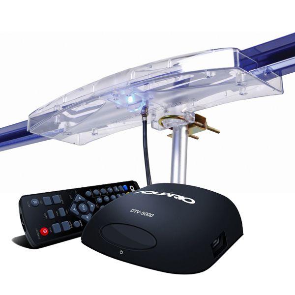 Antena Digital Externa Capte  Diamante e Conversor Digital Aquários DT 5000