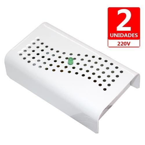 Anti Mofo Eletrônico R14 220V  Kit 2 unid. Branco Repel Mofo, Anti-Ácaro e Fungos, Desumidificador Capte