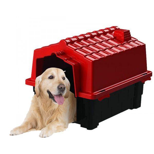 Casa de Cachorro Casinha Eco Colors Dog House Evo Grande N4 Vermelho - Plástico