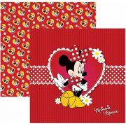 Folha para ScrapFesta Dupla-face Disney - Minnie Mouse 1 Guirlanda
