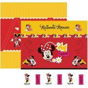 Folha para ScrapFesta Dupla-face Disney - Minnie Mouse 1 Cenário e Bandeirolas