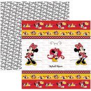 Folha para ScrapFesta Dupla-face Disney - Minnie Mouse 1 Fitas e Rótulos