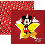 Folha para ScrapFesta Dupla-face Disney - Mickey Mouse 1 Guirlanda