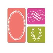 Placa de Textura Sizzix - Embossing Folder - Arabescos