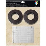 Fita Adesiva Dupla Face Preta - Colored Foam Tape