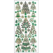Adesivos Fashion com Glitter - Natal
