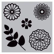 Carimbo e Faca Sizzix - Flores