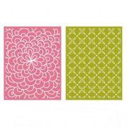 Placa de Textura - LC Embossing Folder Bloom