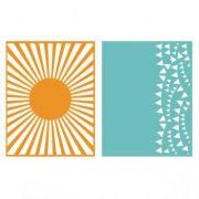 Placa de Textura - LC Embossing Folder Celebrate