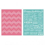 Placa de Textura - LC Embossing Folder Happy Birthday