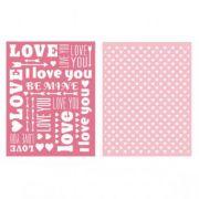 Placa de Textura - LC Embossing Folder Sweetheart