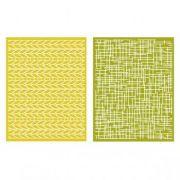 Placa de Textura - LC Embossing Folder Woven