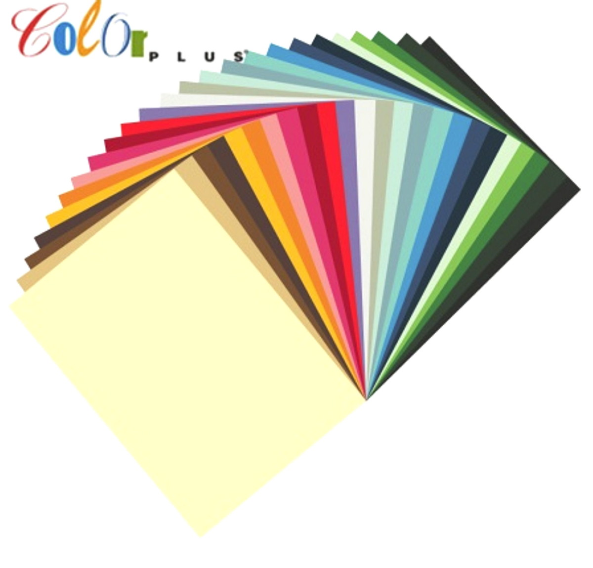 Papel Color Plus A4 180g 20 folhas  - Minas Midias