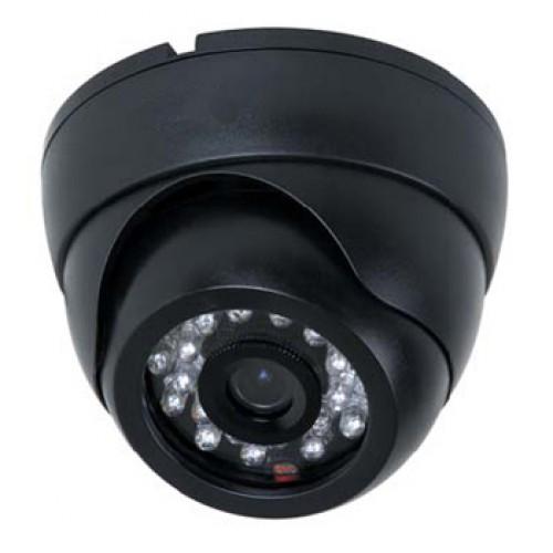 Câmera segurança formato dome 24 leds infravermelho 20 metros Ccd digital 1200 linhas- Preta  - Tudoseg Cftv - Sistemas de Segurança Eletrônica