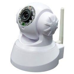 Câmera IP Wirelles Infravermelho com Movimentação e Acesso Internet - Branca  - Tudoseg Cftv - Sistemas de Segurança Eletrônica