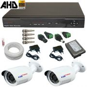 Kit Monitoramento 1 Megapixel Dvr AHD com gravação e acesso Internet - Alta Resolução