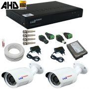 Kit Monitoramento 1 Megapixel Dvr ALL HD com gravação e acesso Internet - Alta Resolução