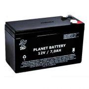 Bateria selada 12v 7A para centrais de alarme e choque