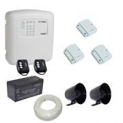 Kit alarme residencial / comercial 3 sensores de abertura sem fio com discadora telefônica- ECP