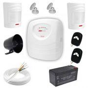 Kit Alarme Residencial / Comercial com 2 Sensores de Presença sem fio – Completo- JFL