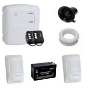 Kit Basic sistema de alarme 2 sensores de presença com fio com bateria- ECP