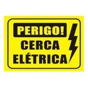 Placa de aviso para cerca elétrica 18x11cm
