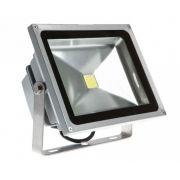 Refletor Holofote de Led Branco Frio 50W Bivolt Prova Dagua