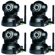 Kit 4 Câmeras IP Sem Fio com Movimentação Acesso Celular e Computador
