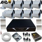 Kit 8 Câmeras de Segurança AHD 1 Megapixel com Gravador Dvr- Alta Resolução